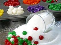 Weihnachtssüßigkeit und -zucker lizenzfreie stockbilder