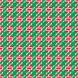 Weihnachtssüßigkeits-Cane Pattern-Zusammenfassungshintergrund Stockbild