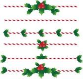 Weihnachtssüßigkeits-Textteiler Stockfoto