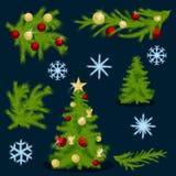 Weihnachtssammlungssatz 1 Lizenzfreies Stockfoto