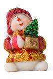 Weihnachtssankt-Schätzchenspielzeug mit Geschenken Lizenzfreie Stockfotos