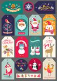 Weihnachtssatz Aufkleber und Aufkleber Lizenzfreies Stockbild