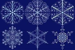 Weihnachtssatz Schneeflocken Stockfotos