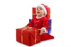 Weihnachtsschätzchen mit Geschenk stockbild