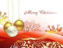 Weihnachtsschöner künstlerischer Wellenhintergrund Lizenzfreies Stockbild