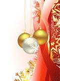 Weihnachtsschöner künstlerischer Wellenhintergrund Lizenzfreie Stockfotos