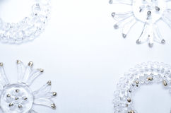 Weihnachtsschablone mit Glaselementen Lizenzfreie Stockfotos