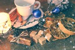 Weihnachtsschale orange Zimtzucker Stockfoto