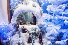 Weihnachtsschaukasten Stockfoto