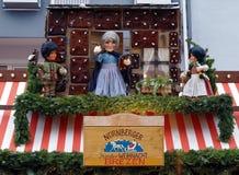 Weihnachtsschild mit Puppen in Nürnberg Lizenzfreie Stockbilder