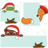 Weihnachtsschilder stock abbildung
