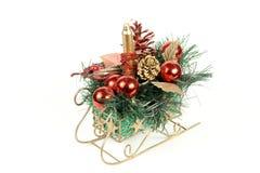 Weihnachtsschlitten stockfoto