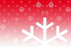 Weihnachtsschnee Stockfoto