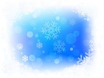 Weihnachtsschnee-Flocken Stockbilder
