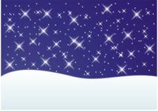 Weihnachtsschnee-Kartenhintergrund Lizenzfreies Stockbild