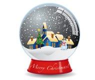 Weihnachtsschnee-Kugel Stockfotografie