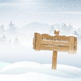 Weihnachtsschneebedeckter Hintergrund lizenzfreie abbildung