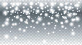 Weihnachtsschneefälle Stockfotos