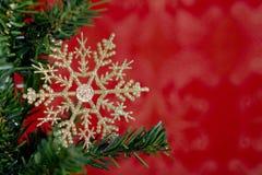 Weihnachtsschneeflocke stockfoto