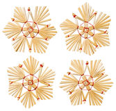Weihnachtsschneeflocke Straw Hanging Toys, Weihnachtsbaum-Dekoration Lizenzfreies Stockbild
