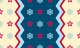 Weihnachtsschneeflocke und -stern vector nahtlosen Musterhintergrund vektor abbildung