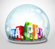 Weihnachtsschneeflockekugel Stockbild