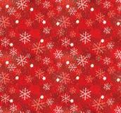 Weihnachtsschneeflockemuster Lizenzfreies Stockbild