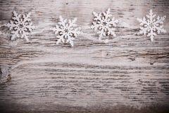 Weihnachtsschneeflocken Stockfotos