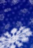Weihnachtsschneeflocken Stockbild
