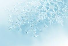 Weihnachtsschneeflocken Stockfoto