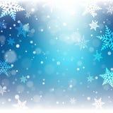 Weihnachtsschneeflocken auf buntem Hintergrund Lizenzfreies Stockbild