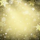 Weihnachtsschneeflocken auf buntem Hintergrund Stockfotos