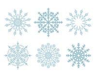 Weihnachtsschneeflocken eingestellt getrennt stockfotos