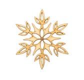 Weihnachtsschneeflocken-Formdekoration Lizenzfreie Stockbilder