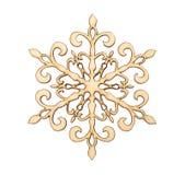 Weihnachtsschneeflocken-Formdekoration Stockfotografie