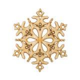 Weihnachtsschneeflocken-Formdekoration machte Holz Stockfotos