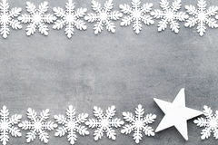 Weihnachtsschneeflocken, Hintergrund in der Weinleseart glückliches neues Jahr 2007 Stockfoto