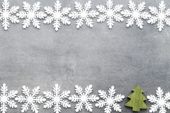 Weihnachtsschneeflocken, Hintergrund in der Weinleseart glückliches neues Jahr 2007 Lizenzfreie Stockfotografie