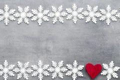 Weihnachtsschneeflocken, Hintergrund in der Weinleseart glückliches neues Jahr 2007 Stockbilder