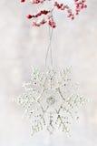 Weihnachtsschneeflocken, Hintergrund in der Weinleseart glückliches neues Jahr 2007 Stockfotos