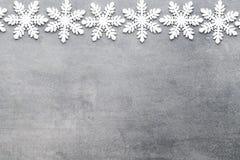Weihnachtsschneeflocken, Hintergrund in der Weinleseart glückliches neues Jahr 2007 Stockfotografie