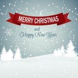 Weihnachtsschneeflocken-Hintergrund-Vektor Lizenzfreies Stockfoto