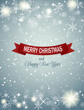 Weihnachtsschneeflocken-Hintergrund-Vektor Lizenzfreie Stockfotos