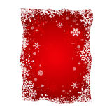 Weihnachtsschneeflocken-Hintergrund-Vektor Lizenzfreies Stockbild
