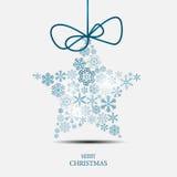 Weihnachtsschneeflocken-Hintergrundvektor Lizenzfreies Stockbild