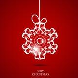 Weihnachtsschneeflocken-Hintergrundvektor Stockfoto