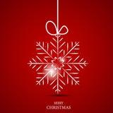 Weihnachtsschneeflocken-Hintergrundvektor Lizenzfreie Stockfotos