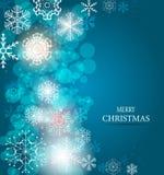 Weihnachtsschneeflocken-Hintergrundvektor Lizenzfreie Stockfotografie