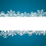 Weihnachtsschneeflocken-Hintergrundvektor Stockfotografie
