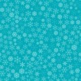 Weihnachtsschneeflocken-nahtloses Muster Stockfoto